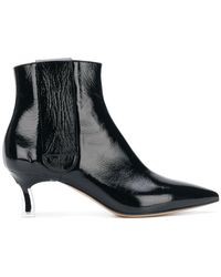 Casadei - Varnished Ankle Boots - Lyst