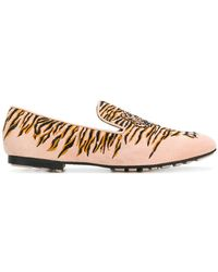 KENZO - Embroidered Tiger Loafers - Lyst