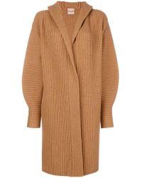 Nude - Midi Cardi-coat - Lyst