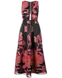 Notte by Marchesa - Metallic Floral Jacquard Dress - Lyst