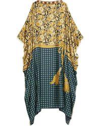 Gucci - Oversized-Kleid mit Blumen und Quasten - Lyst