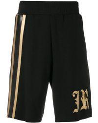 John Richmond - Logo Side Stripe Shorts - Lyst
