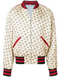 e6cfb5eb4 Lyst - Gucci Stamp Denim Jacket for Men