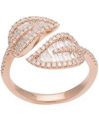 Anita Ko - Rose Gold Small Leaf Ring - Lyst