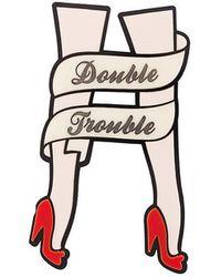 Yazbukey - Double Trouble Leg Pin - Lyst