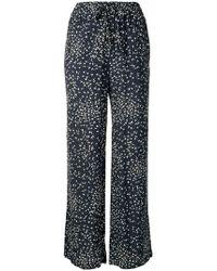Ganni - Straight-leg Floral Print Trousers - Lyst