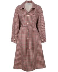 Barena - Checked Button Coat - Lyst