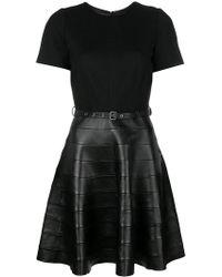 Karl Lagerfeld - Belted Skater Dress - Lyst
