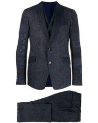 Etro - Anzug mit Print - Lyst