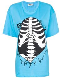 Jeremy Scott - Ribbed Cage Print T-shirt - Lyst