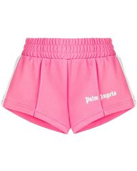 Palm Angels - Cropped Track Shorts - Lyst
