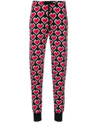 Love Moschino - Heart Print Trousers - Lyst