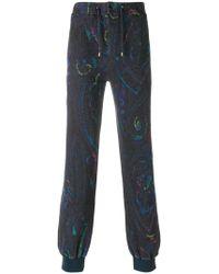 Etro - Paisley Print Track Pants - Lyst
