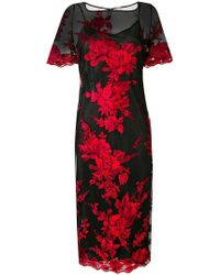 Antonio Marras - Floral Embroidered Sheer Dress - Lyst