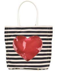 Boutique Moschino - Appliqué Heart Tote Bag - Lyst