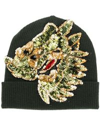 P.A.R.O.S.H. - Sequin Embroidered Knitted Beanie - Lyst
