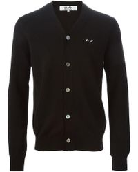 Play Comme des Garçons - Embroidered Heart Cardigan - Lyst