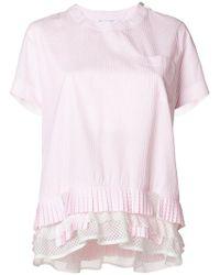 Sacai - Pleated Hem T-shirt - Lyst