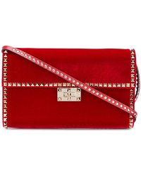 Valentino - Garavani Rockstud Velvet Shoulder Bag - Lyst
