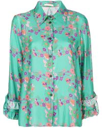 Kristina Ti - Floral Print Shirt - Lyst