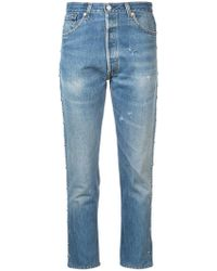 RE/DONE - Faded Slim Fit Jeans - Lyst