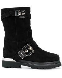 Baldinini - Silver Buckled Boots - Lyst