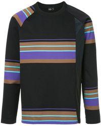 Kolor - Asymmetric Striped Sweatshirt - Lyst