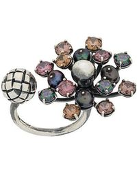 Bottega Veneta - Cluster Crystal Ring - Lyst