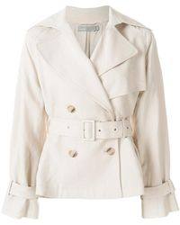 Vince - Double Breasted Belted Jacket - Lyst