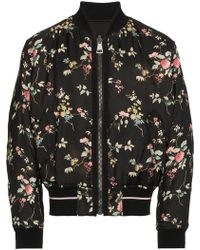 Haider Ackermann - Freesia Floral Print And Black Reversible Bomber Jacket - Lyst
