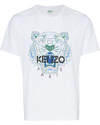 3f2de7ed KENZO 'tiger' T-shirt in White for Men - Lyst