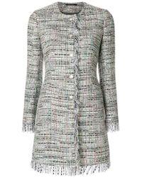 Tagliatore - Longline Tweed Jacket - Lyst
