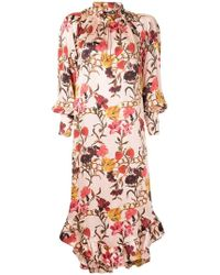 Mother Of Pearl - Ruffle Hem Floral Dress - Lyst