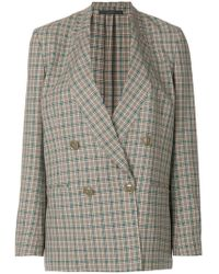 Paul Smith - Checked Double-breasted Jacket - Lyst