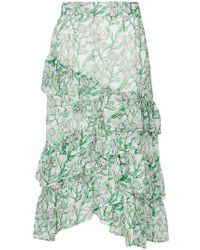 Dodo Bar Or - Tiered Floral Print Skirt - Lyst