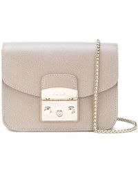 Lyst - Furla Metropolis Faux Fur Bag in Pink f2c972235a1fa