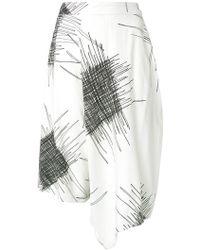 UMA | Raquel Davidowicz - Printed Wide Bermuda Shorts - Lyst