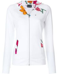 EA7 - Floral Hooded Track Top - Lyst