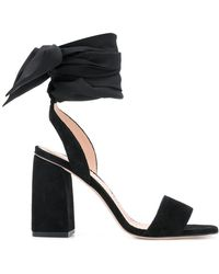 RED Valentino - Ankle Tie Sandals - Lyst
