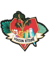 Maison Kitsuné - Love Blazon Embroidered Pin - Lyst