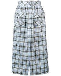 Ultrachic - Long Tartan Print Skirt - Lyst