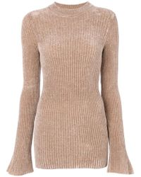 Nude - Slim Fit Ribbed Jumper - Lyst