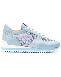 Le Silla - Lace-panelled Sneakers - Lyst