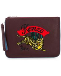 KENZO - Embroidered Clutch - Lyst