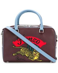 KENZO - Embroidered Bowling Bag - Lyst