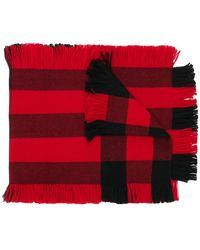 Burberry - Fringed Check Scarf - Lyst