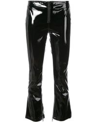 RTA - Luella Vinyl Cropped Trousers - Lyst