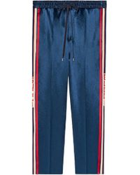 b2fed4a9ef79 Gucci - Acetate Jogging Pant With Stripe - Lyst
