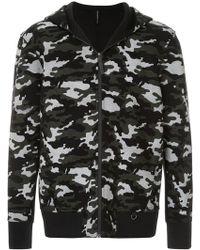 Neil Barrett - Mesh Camouflage Print Zip Hoodie - Lyst