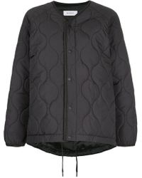 En Route - Quilted Snap Button Jacket - Lyst